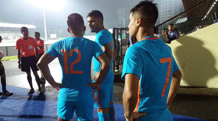 india vs mauritius football score, lindia vs maurituis football match , football live, football news, indian express, indian express news