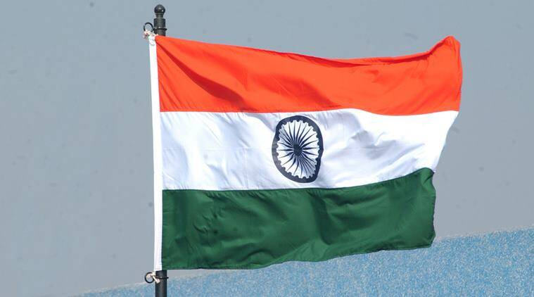 Gujarat national flag, Tricolour flag torn, Tricolour torn, Vijay Rupani, Biggest tricolour town, India news, Indian Express