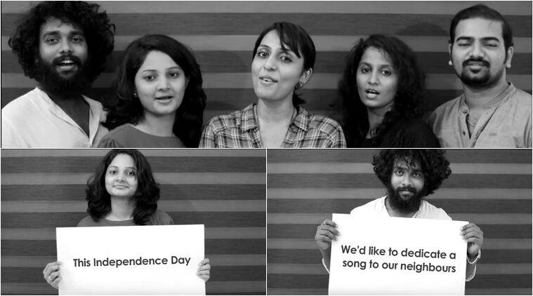 independence day, pakistan national anthem pak sarzamin, voxchord pak sarzamin, indian band pak national anthe, indian acapella band pak anthem, viral video, indian express
