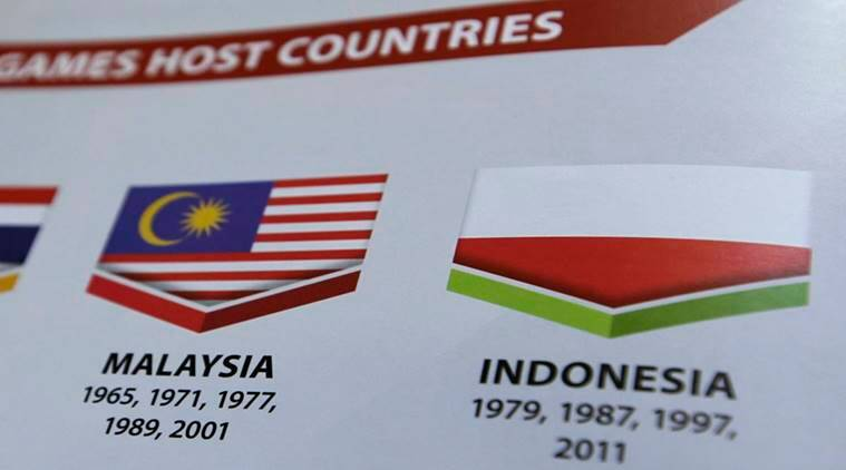 indonesia, malaysia, indonesia flag controversy, poland flag, southeast asia games, indonesia flag upside down, indian express