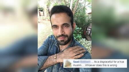 irfan pathan, irfan pathan trolled, irfan pathan trolled for wearing rakhi, cricketers trolled oline, indian express, indian express news