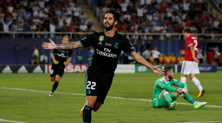 real madrid, manchester united, uefa super cup, super cup, casemiro, isco, goal highlights, super cup highlights, football, sports news, indian express