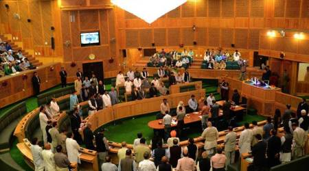 NC, Congress MLAs stage walkout from J&K House over power issue