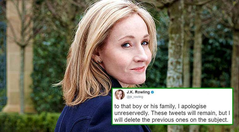 Jk Rowling Essay  Veterinariancolleges Jk Rowling Deletes Old Tweets And Apologises For Falsely Example Of An Essay With A Thesis Statement also Essay Sample For High School  Cause And Effect Essay Thesis
