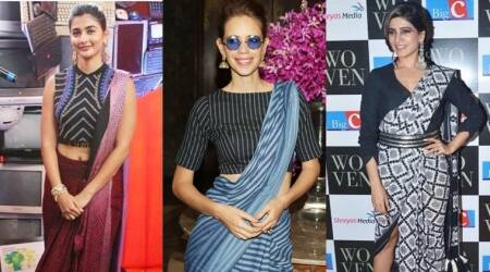 Celebs are trying quirkier ways to drape a sari, but are they really inspiring?