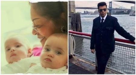 Karan Johar reveals first picture of his twins Yash and Roohi. See photo