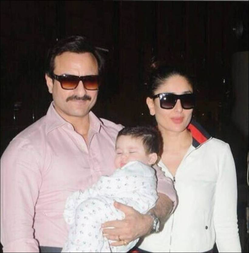 Taimur, Saif and Kareena enjoy their Swiss vacation