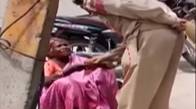 jammu and Kashmir news, Cop caught snatching money from beggar, Kashmir cop snatched money from beggar, India news, national news