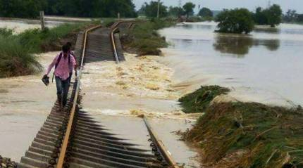 Flood damage: Rail link to Assam will not be repaired before August 28