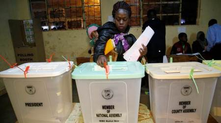 Kenyans to vote in tight, tenseelections