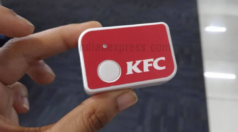 KFC India, KFC One Click button, KFC One Click, KFC instant food, KFC button, KFC button delivery