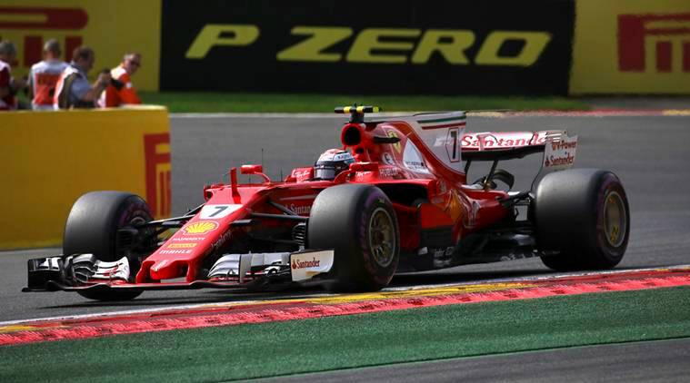 kimi raikkonen fastest in final belgian gp practice sebastian vettel second the indian express. Black Bedroom Furniture Sets. Home Design Ideas