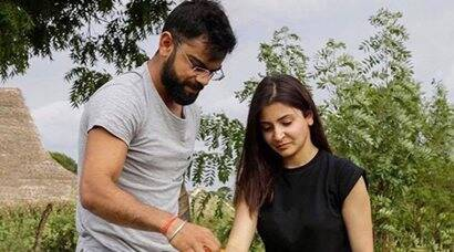 Virat Kohli, Anushka Sharma go green in Sri Lanka