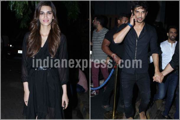 sushant singh rajput, kriti sanon, sushant krtiti party together, sushant kriti images