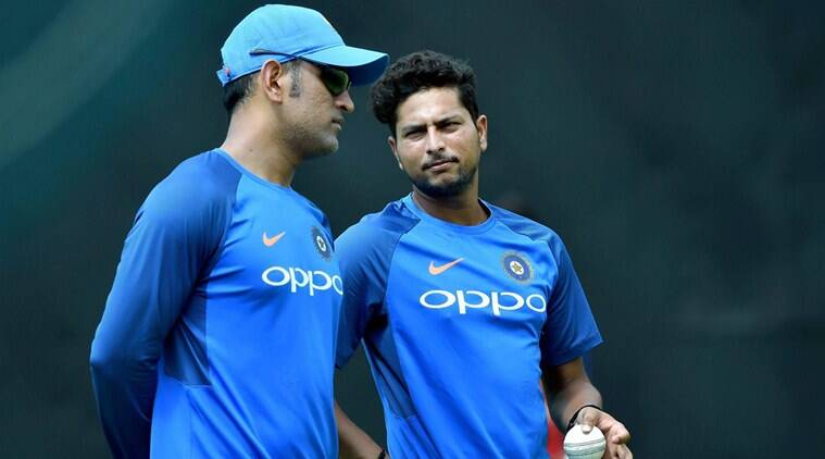 Image result for dhoni to kuldeep yadav