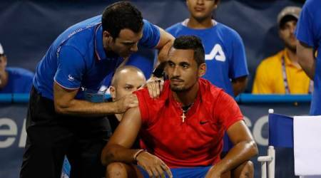 Nick Kyrgios retires with shoulder injury, booed at Citi Open