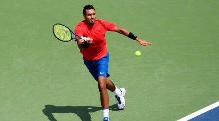WATCH: Nick Kyrgios practices with fan on Twitter request
