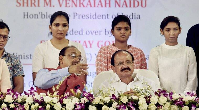 M. Venkaiah Naidu, M. Venkaiah Naidu Vice President, National Sports Talent Search Portal, sports news, Indian Express