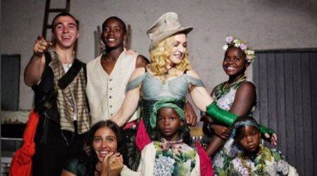 Madonna shares first family portrait with all children for the first time on herbirthday
