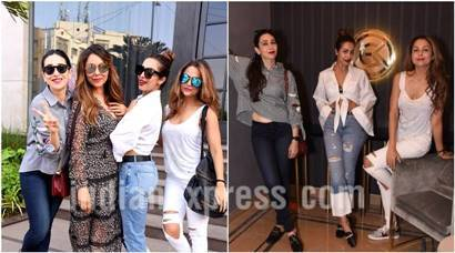 Malaika Arora with BFF Amrita Arora and Karisma Kapoor at Gauri Khan's store