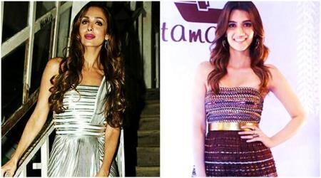 Malaika Arora and Kriti Sanon go METALLIC, and it's perfect for a late-night party