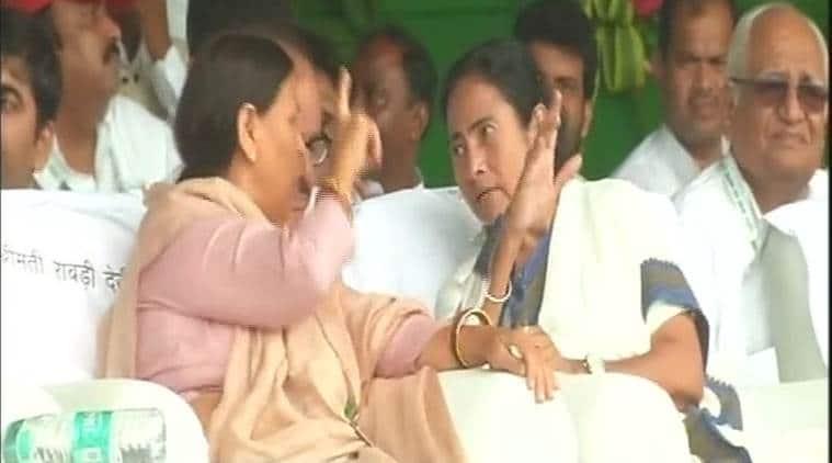 West Bengal CM Mamata Banerjee at RJD's rally in Patna. (Photo: ANI)
