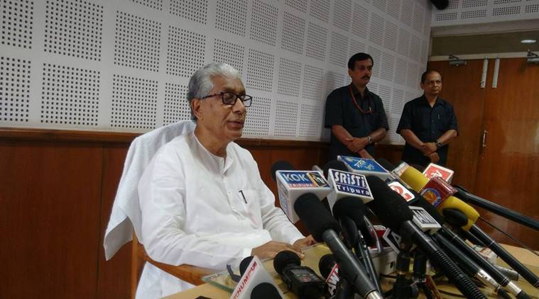 manik sarkar, tripure cm, agartala, northeast, indian express