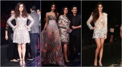 manish malhotra, manish malhotra lakme fashion week, sridevi, jhanvi kapoor, khushi kapoor, dia mirza, neha dhupia, shriya saran, diana penty, manish malhotra lakme fashion week, indian express, indian express news
