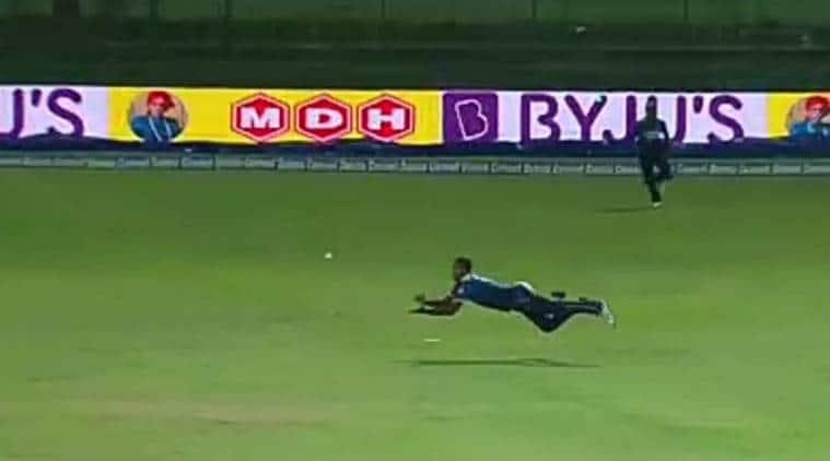India vs Sri Lanka, Angelo Mathews, Angelo Mathews catch, Shikhar Dhawan, sports news, cricket, Indian Express