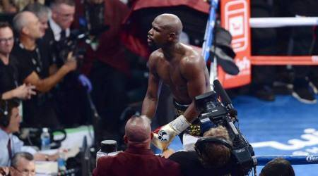 Floyd Mayweather TKO's Conor McGregor: Watch the winning moment