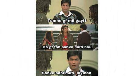 Shah Rukh Khan's emotional scene from Main Hoon Na has been turned into a hilarious meme