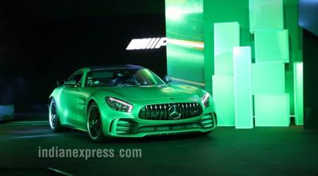mercedes india launch, mercedes benz,mercedes amg gt r, mrc gt roadster, mercedes launch event delhi,mercedes gt r price india,mercedes ex showroom price india, indian express