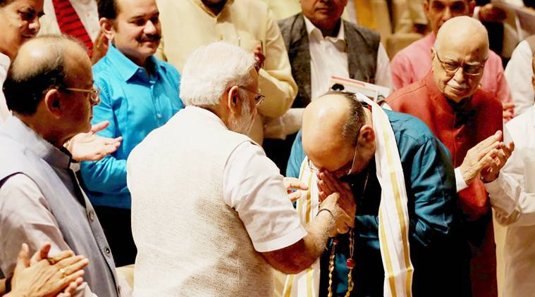 narendra modi, Amit shah, amit shah bjp mp, rajya sabha mp amit shah, gujarat rajya sabha polls, Jan Sangh work culture, bjp government, india news