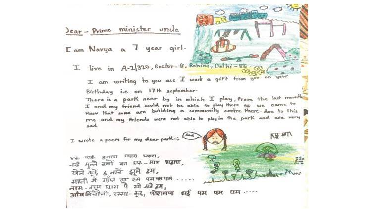 7-year-old girl's plea to 'Modi uncle': Please save our park