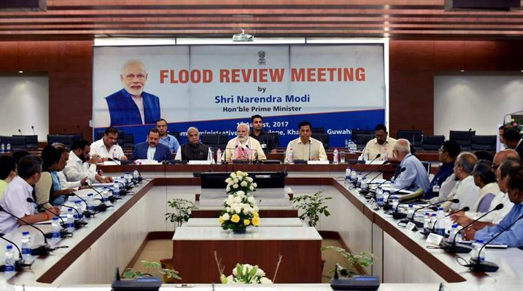 Flood relief, Assam floods, north east, PM Flood relief, India news, Indian express, Narendra Modi