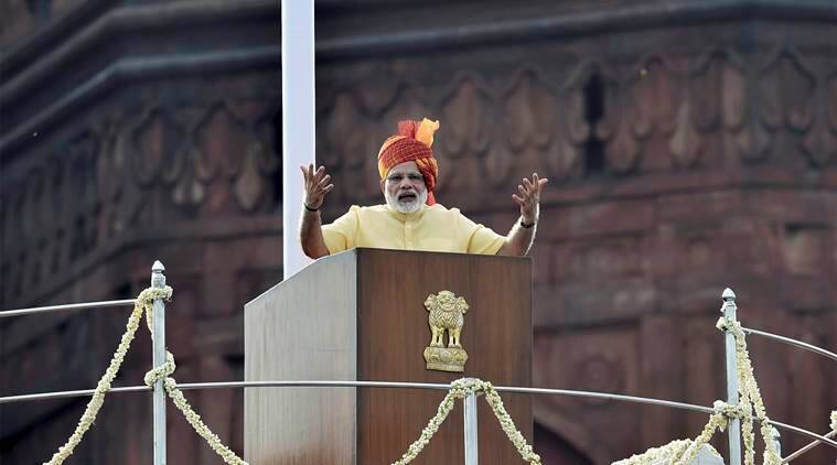 narendra modi, independence day, narendra modi speech, independence day speech, Kashmir, Triple Talaq, Jammu Kashmir, 70th independence day, Indian Express, india news