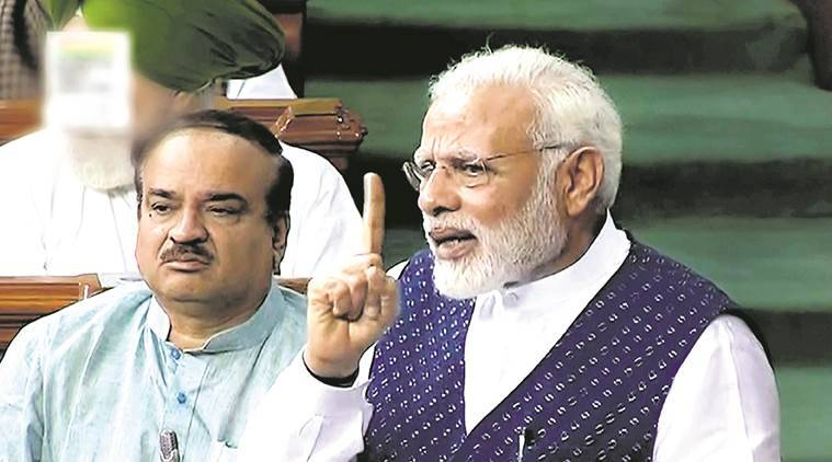 Narendra Modi, Prime Mi9nister, PM Modi, Lok Sabha, Monsoon Session, Address, Development of India, Indian Express Modi, Indian Express