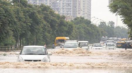 Mohali worst hit, showpiece airport road goes under water