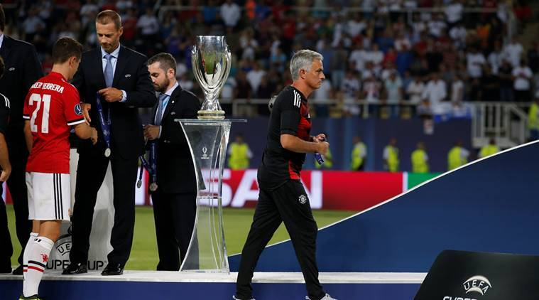 jose mourinho, uefa super cup, manchester united, jose mourinho medal, football medals buy, football news, sports news, indian express