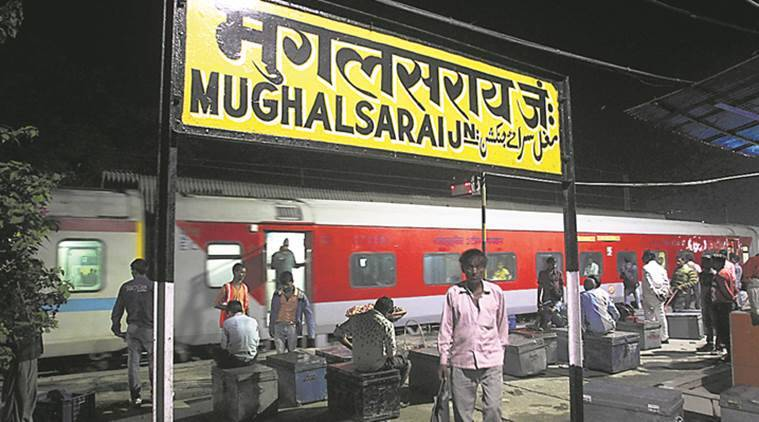 mughalsarai station, mughalsarai station rename, deen dayal upadhyay station, up railway station renaming, indian express news