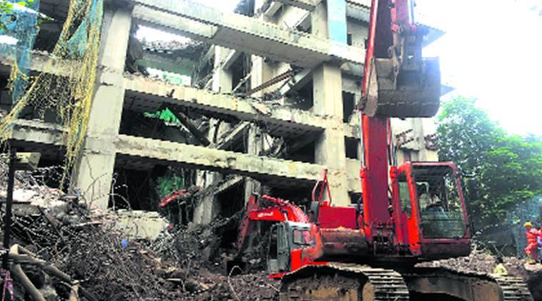 Building collapses during demolition in Mumbai