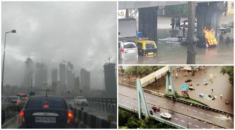 Mumbai rains, Mumbai rains photos, Mumbai rains videos, Mumbai rains celeb posts, Mumbai water logging