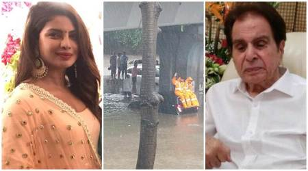 Mumbai rains, Mumbai rains photos, Mumbai rains videos, Dilip Kumar, Priyanka Chopra, Mumbai rains celeb posts