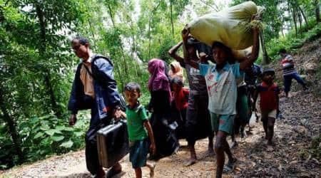 Myanmar violence, Rohingya flee Myanmar border area, Rohingya in Myanmar, Muslims in Myanmar, International news, World news,