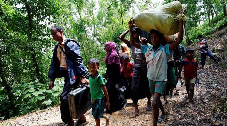 Myanmar violence, Rohingya flee Myanmar border area, Rohingya in Myanmar, Muslims in Myanmar, International news, World news,