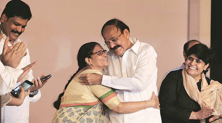 venkaiah naidu, vice president, new vice president, vice presidential elections, vice presidential election results, venkaiah naidu speech, venkaiah naidu swearing in, indian express news
