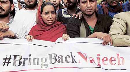 Missing student Najeeb Ahmad's kin, JNUSU stage stir outside CBI office