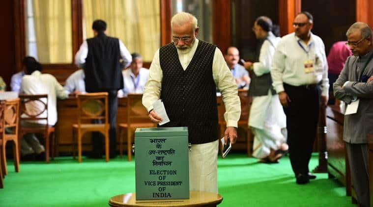 vice-presidential elections, narendra modi, venkaiah naidu, gopalkrishna gandhi, india news