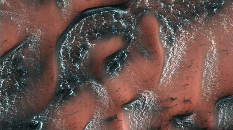 Nasa, Mars, Mars dunes, Mars snow dunes, Mars dunes snow