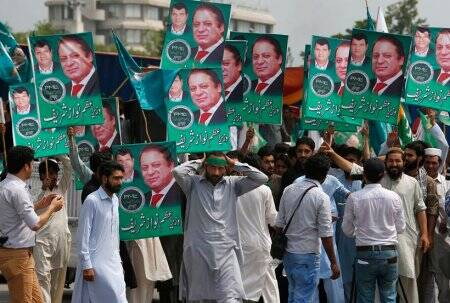 Nawaz Sharif, former Pakistan Prime Minister, Nawaz Sharif rally, Pakistan elections, pakistan news